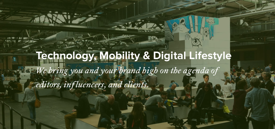 public relations for technology, mobility and digital lifestyle in Germany