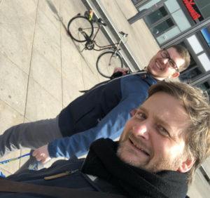 Nico und Karsten auf Tour.